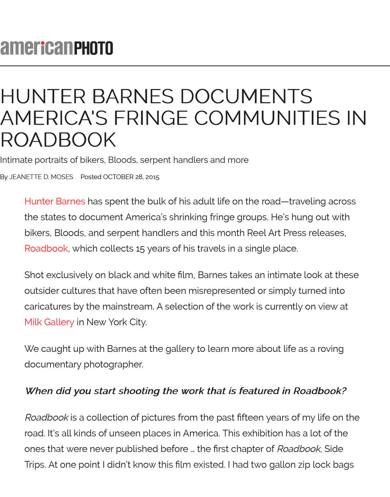 Hunter Barnes documents America's fringe communities in Roadbook - American Photo - Page 2