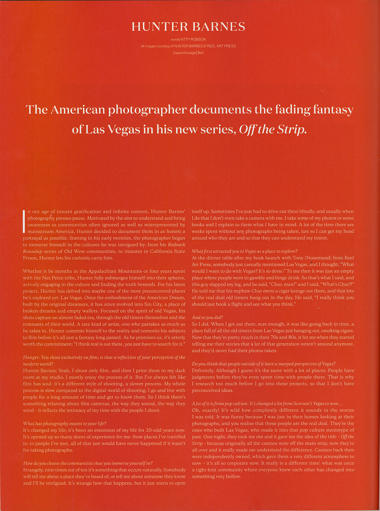 The American photographer documents the fading fantasy of Las Vegas in his new series Off the Strip - Hunger - Page 2