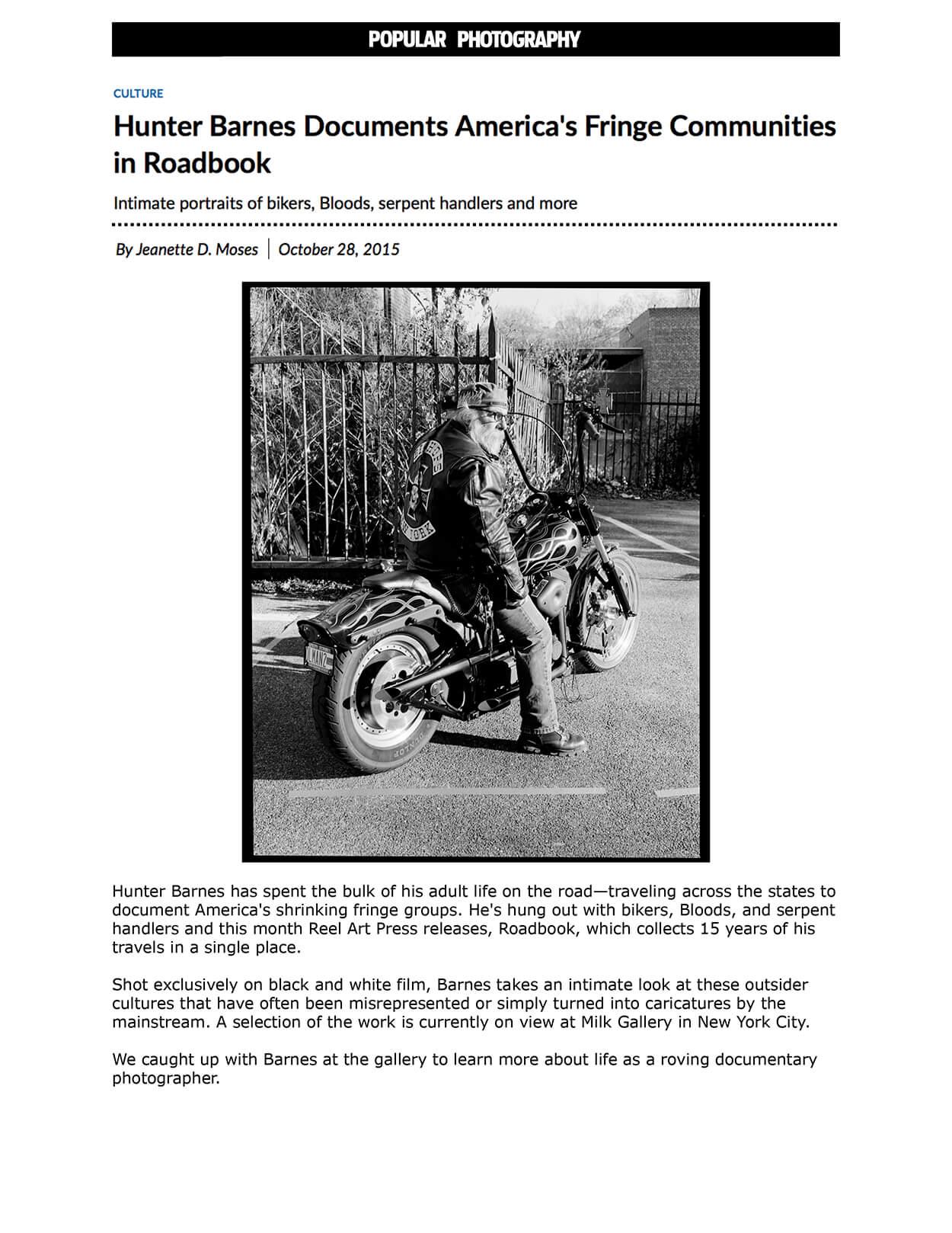 Hunter Barnes documents America's fringe communities in Roadbook - Popular Photography - Popular Photography - Page 1