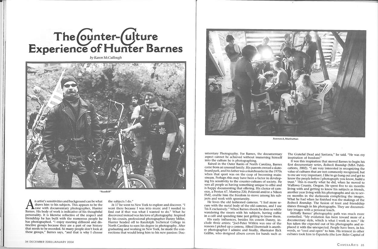 The counter culture experience of Hunter Barnes - CAMERA ARTS - Page 2