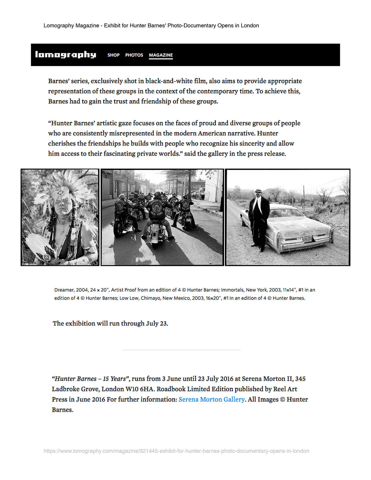Exhibit for Hunter Barnes' photo documentary opens in London - Lomography Magazine - Page 2