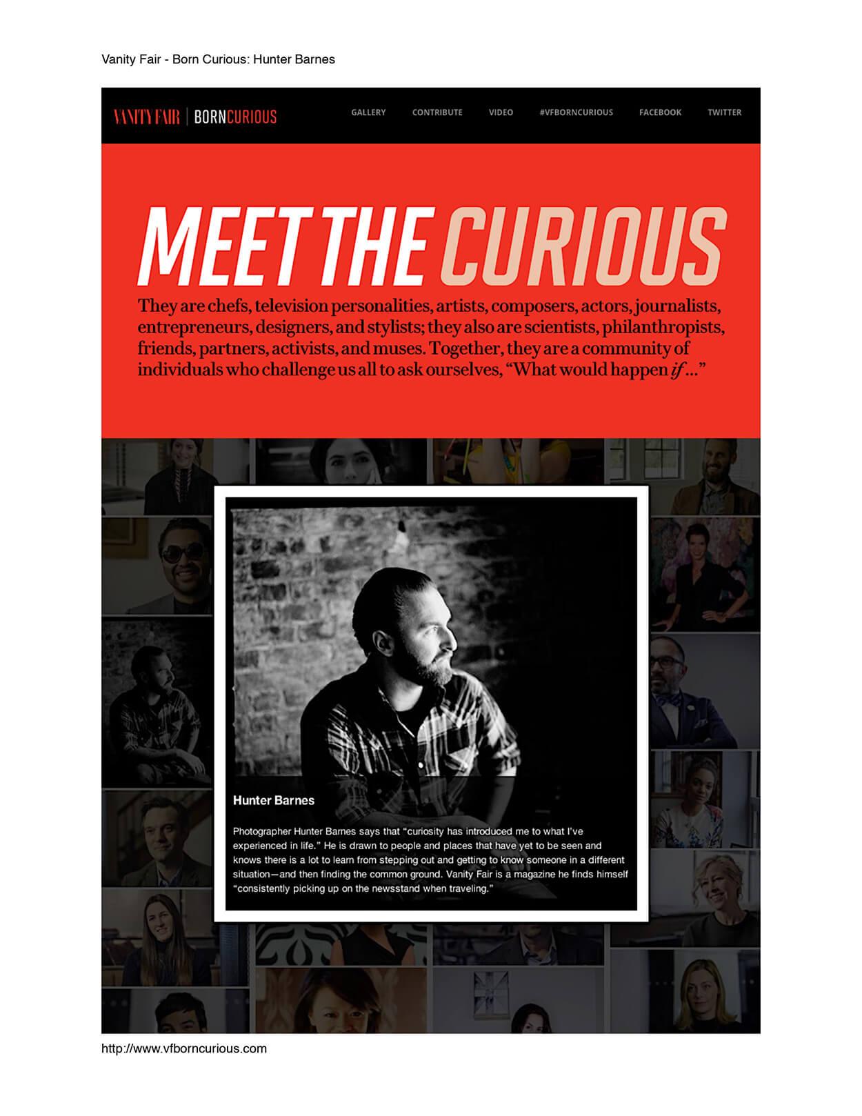 Born curious: Hunter Barnes - Vanity Fair - Page 1